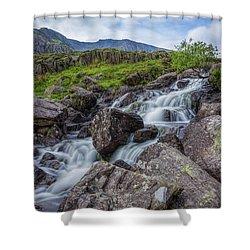 Rapids Of Snowdonia Shower Curtain