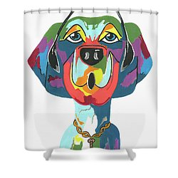 Rapping Rover - Funny  Dog Shower Curtain