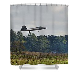 Raptor Approach Shower Curtain