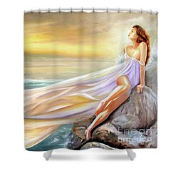 Rapture In Midst Of The Sea Shower Curtain by Michael Rock