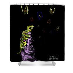 Rapunzel's Magic Flower Braid Shower Curtain