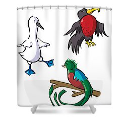 Rare Old Birds Shower Curtain