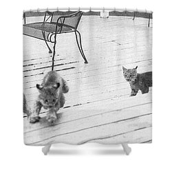 Relay Chase Shower Curtain