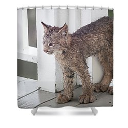 Laser Eyes Big Feet Shower Curtain