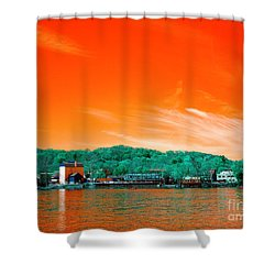 Shower Curtain featuring the photograph Raritan River Pop Art by John Rizzuto