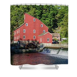 Rariton River And The Red Mill - Clinton New Jersey Shower Curtain by Bill Cannon