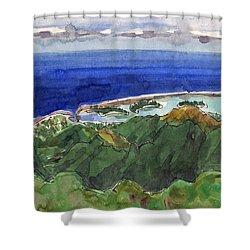 Rarotonga, View From Te Manga Shower Curtain