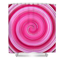 Shower Curtain featuring the digital art Rasberry Ripple  by Fine Art By Andrew David
