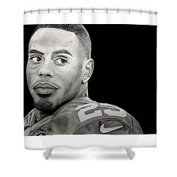 Rashad Jennings Drawing Shower Curtain