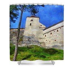 Rasnov Fortress Shower Curtain by Jeff Kolker
