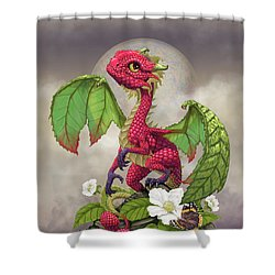 Raspberry Dragon Shower Curtain