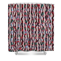 Shower Curtain featuring the photograph Raspberry Patern by Yulia Kazansky