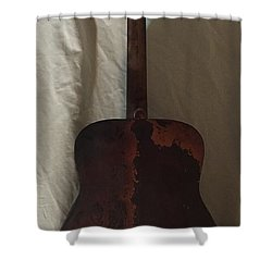 Rat Guitar 2 Back Shower Curtain