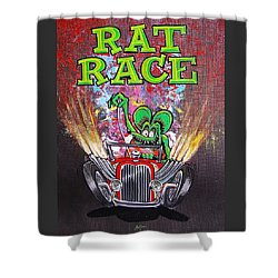 Rat Race Shower Curtain by Alan Johnson