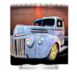 Rat Rod Flatbed Truck Texana Shower Curtain