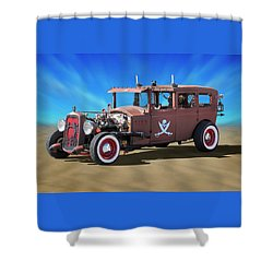 Shower Curtain featuring the photograph Rat Rod On Beach 3 by Mike McGlothlen