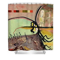 Rational Thought Begins Here Shower Curtain