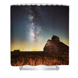 Rattlesnake Silo Barn Shower Curtain