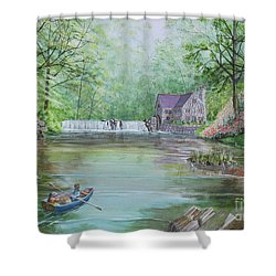 Ratty And Mole's Grand Day Out Shower Curtain