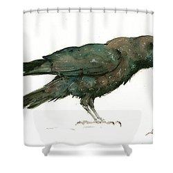 Raven Bird Shower Curtain