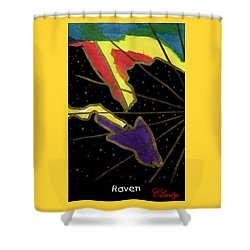 Shower Curtain featuring the painting Raven by Clarity Artists