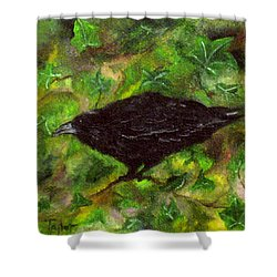 Raven In Ivy Shower Curtain
