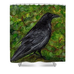 Raven In Wirevine Shower Curtain