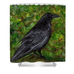 Raven In Wirevine Shower Curtain