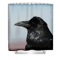 Raven Profile Shower Curtain