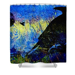 Raven Study 2 Shower Curtain