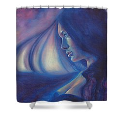 Raven Sunrise Shower Curtain