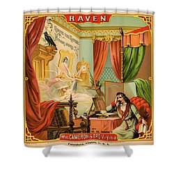 Raven Tobacco Shower Curtain