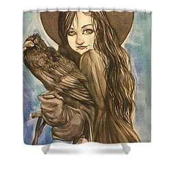 Raven Witch Shower Curtain