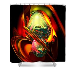 Raw Fury Abstract Shower Curtain by Alexander Butler