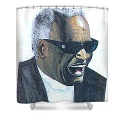 Ray Charles Shower Curtain by Emmanuel Baliyanga