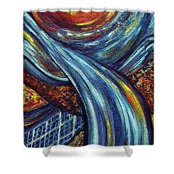 Shower Curtain featuring the painting Ray Of Hope 3 by Harsh Malik