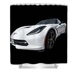 Ray Of Light - Corvette Stingray Shower Curtain