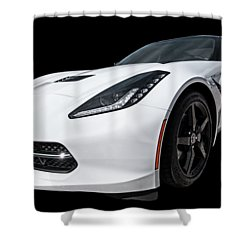 Ray Of Light - Corvette Stingray Shower Curtain