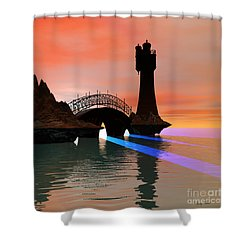 Rays Shower Curtain by Corey Ford
