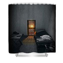 Rays Of Freedom Shower Curtain by Evelina Kremsdorf