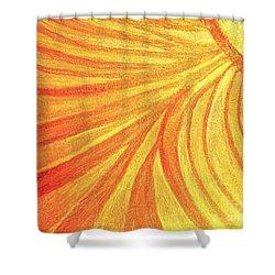 Rays Of Healing Light Shower Curtain by Rachel Hannah