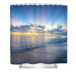 Shower Curtain featuring the photograph Rays Over The Reef by Debra and Dave Vanderlaan