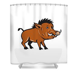 Razorback Side Cartoon Shower Curtain