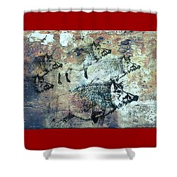 Shower Curtain featuring the photograph Wild Boars by Larry Campbell