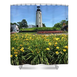 Rb Lighthouse Shower Curtain
