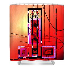 Shower Curtain featuring the painting Re-cycled Art by Andrew Penman
