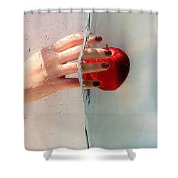 Reach For The Apple Shower Curtain