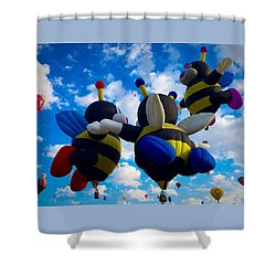 Hot Air Balloon Cheerleaders Shower Curtain