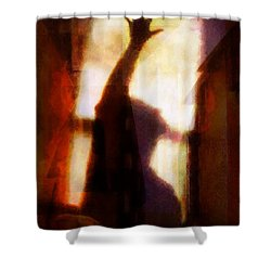 Reaching For The Light Shower Curtain by Gun Legler