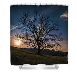 Reaching For The Moon Shower Curtain by Robert Loe